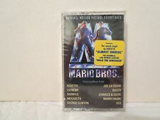 SUPER MARIO BROTHERS  (SEALED Soundtrack Cassette) Joe Satriani, Megadeth, Queen