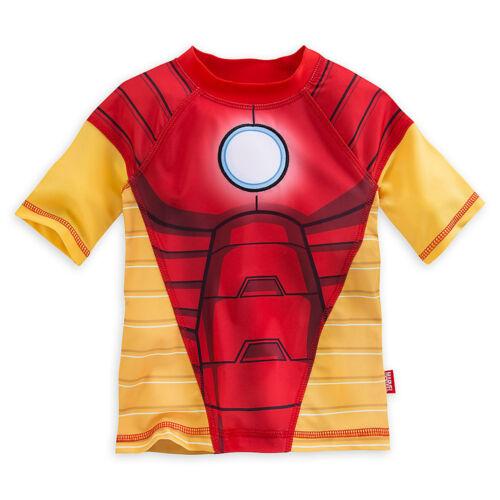 Disney Store Marvel Iron Man Rash Guard Swim Shirt Boy Size 5//6