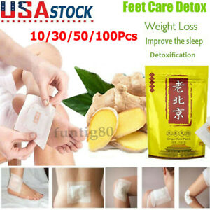 10-100PCS-Detox-Foot-Pads-Detoxify-Patch-Toxins-Fit-Body-Health-Care-Cleaning-US