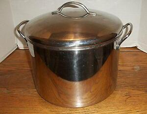 farberware 18 10 stainless steel 16 qt stock pot w lid ebay. Black Bedroom Furniture Sets. Home Design Ideas