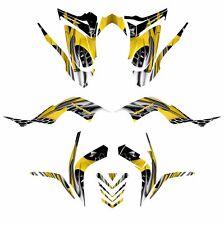 Raptor 700 R graphics kit 2006 2007 2008 2009 2010 2011 2012 #4444 Yellow Tribal
