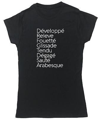 Eat Sleep Ballet Repeat t-shirt fitted short sleeve womens