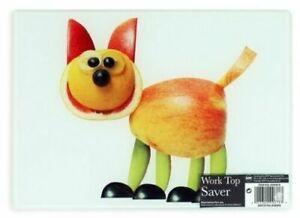 Brighten-Your-Kitchen-25cm-Glass-Chopping-Board-Worktop-Saver-Cute-Cat-Design
