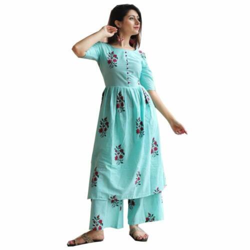 Indian palazzo with kurti dress palazzo-kurta stylish party long cotton dress