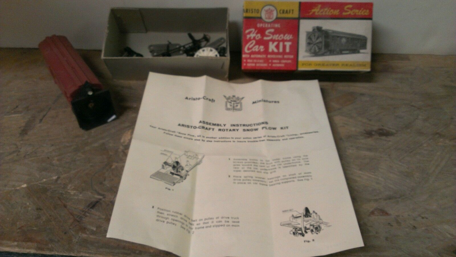 Aristo Craft Action Series Operating Snow Plow Car Kit HO Scale