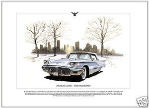 FORD THUNDERBIRD 1959 - Fine Art Print - T-Bird US American Car Picture '59