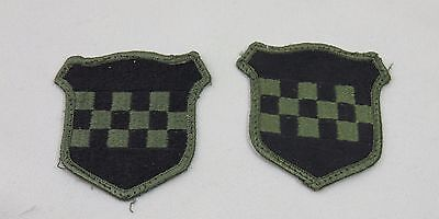 US Army Military Patch 99th Infantry Division Subdued Set of 2 Black & Green