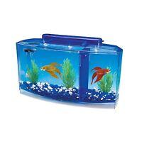 Penn Plax Deluxe Triple Betta Bow Aquarium Tank 0.7-gallon Free Shipping