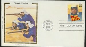 Beau Geste 2447 Colorano Silk Full Color Cachet First Day Gary Cooper 1990