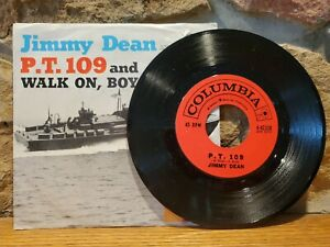 Jimmy-Dean-P-T-109-and-Walk-On-Boy-Columbia-4-42338-45rpm-1962