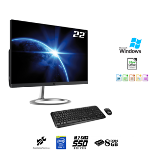 PC-All-in-one-22-034-Intel-i5-Ram-8Gb-Ssd-M-2-256Gb-Wifi-Windows-10-PRO-Pc-desktop