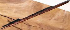 """1 Wood Magic Wand ~ Rare Mahogany #4 ~ 15"""" ~ Handmade Carving Spiral & Handle"""