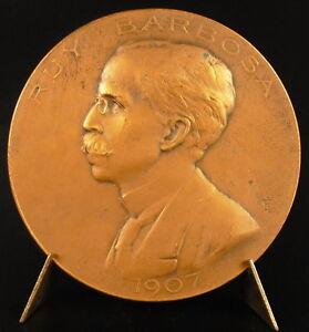 Medalla-el-diplomatico-brasilena-Ruy-Barbosa-Oliveira-Brasil-Brazil-1907-medal