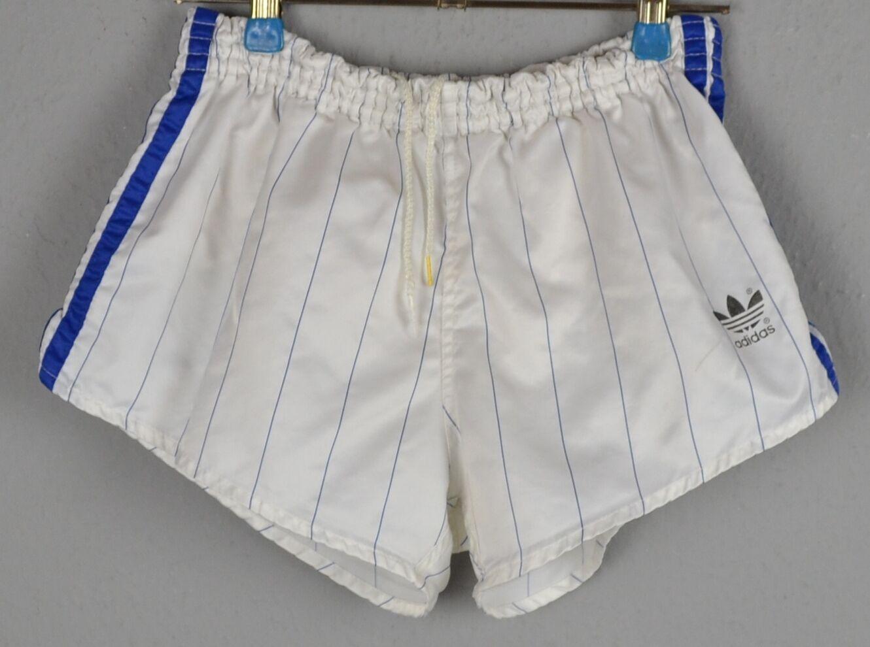 Details over ADIDAS Glanz Nylon Shorts!!! Vintage Short Sporthose weiß Gr.:D4 (1344)