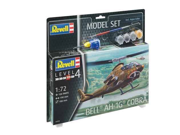 Bell AH-1G Cobra Helicopter Model Set Plastic Kit 1 72 Model 64956 REVELL