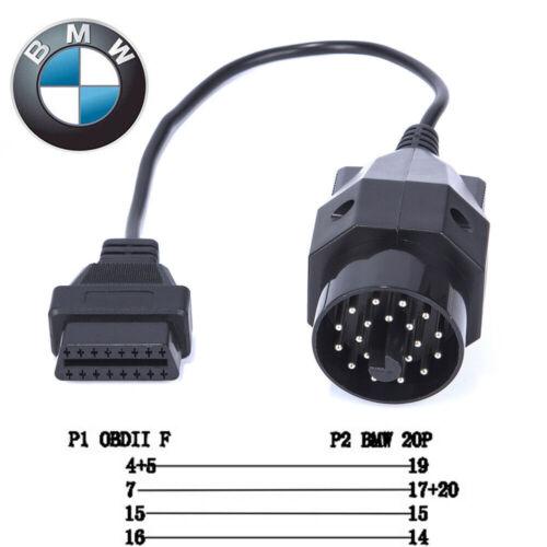 OBD1 to OBD2 Adapter OBD Cable Fit Diagnostic Tool For AUDI BENZ GM KIA etc.