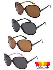 Retro Round Oversized Womens Sunglasses UV Protect Brown Frame CG104