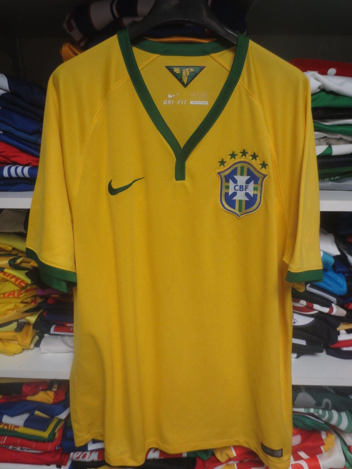 Maillot BRESIL BRAZIL 2014 2016 NIKE CBF jersey shirt camiseta BRASIL Dri-Fit L