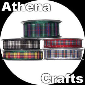 Berisfords-Tartan-Ribbon-Multi-Choice-Listing-Scotland-Scottish