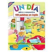 Un dÃa: Mira y encuentra 100 palabras en inglés (Spanish Edition)-ExLibrary