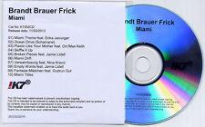 BRANDT BRAUER FRICK Miami 2013 German numbered 10-track promo CD Jamie Lidell