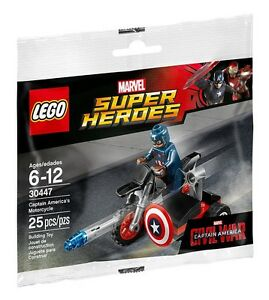 LEGO 30447 Captain America/'s Motorcycle Marvel Super Heroes polybag Avengers
