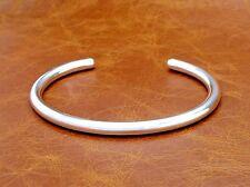 Men's Solid Silver London Hallmark Torque Bangle Bracelet Hand Made By D. Locke