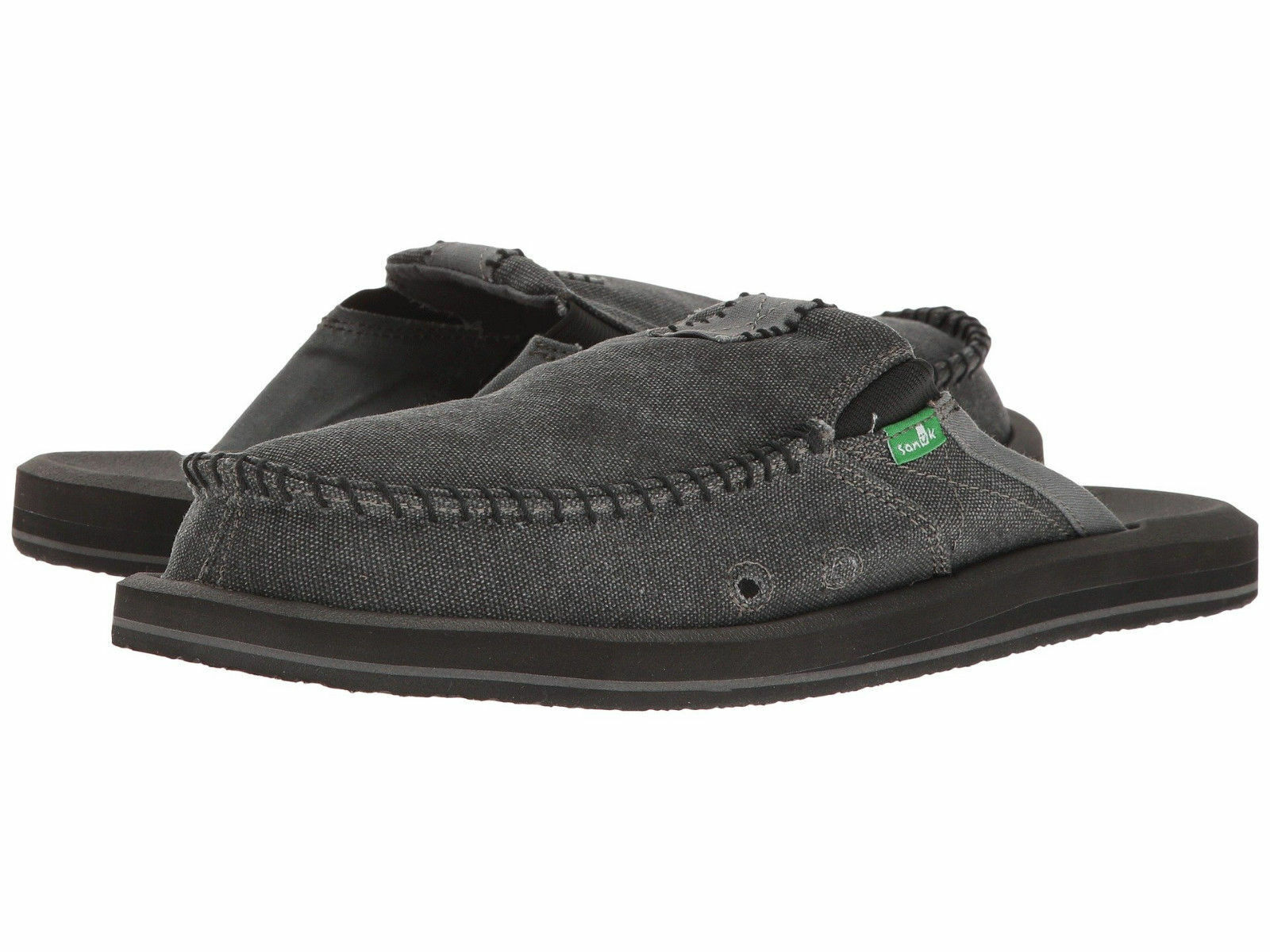 Men Sanuk You Got My Back II Canvas Slipper SMF1109 Charcoal 100% Original New