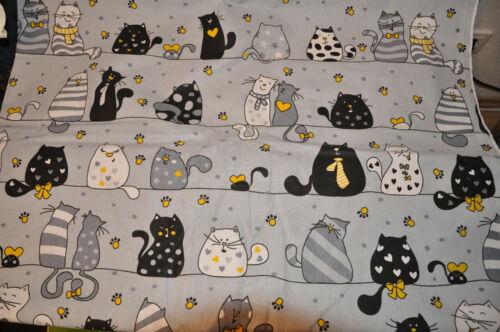 Baumwollstoff Lustige Katzen Baumwolle Dekostoff Webware Stoff nähen Kinder