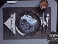 Star Wars Disney Death Star Dinner Set with Lightsaber Fork, Knife, Spoon