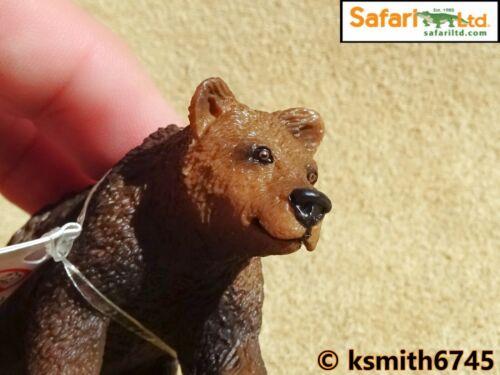 Safari Grizzly Bear Cub Jouet en plastique Wild Zoo brown Bébé Animal Prédateur nouveau