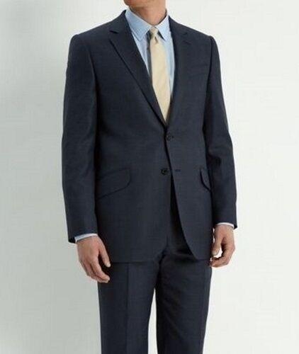 SLIGHTLY USED Jones New York JNY City Navy Pin/Birdseye WoolBl Suit 40R 36x31-33