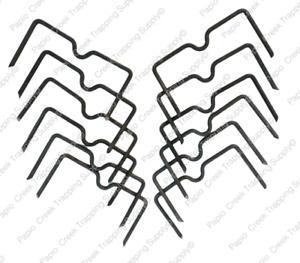 Dozen-Papio-Creek-Weld-On-Trap-Stabilizer-Center-Locator-Leg-Hold-Traps-USA-Made