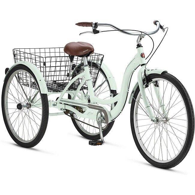 Tricycle Adult Women Men Basket Teens 3 Wheel Bike Balance Pedal Safe Aluminum