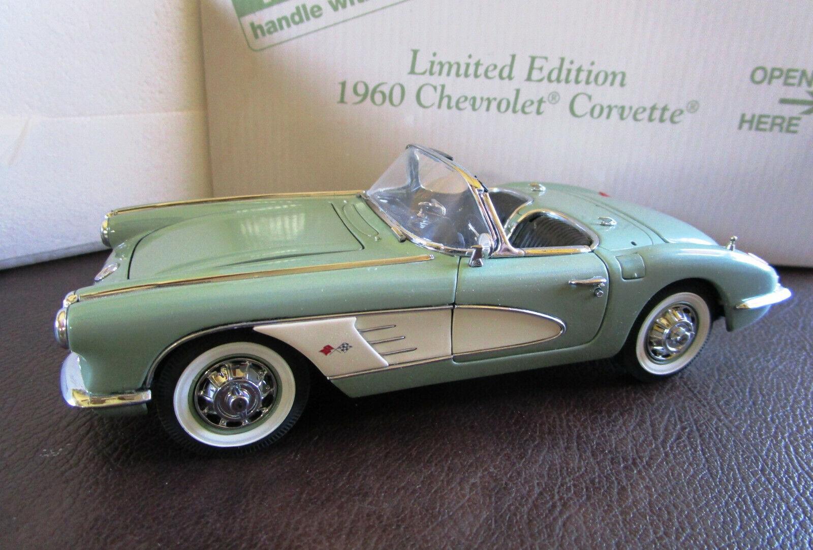 1 24 Danbury mint Corvette 1960 Converdeible Edición limitada con caja y papeles