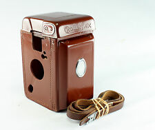 Original Leather Case for Rolleiflex 2.8 E with Alligator Clips Strap