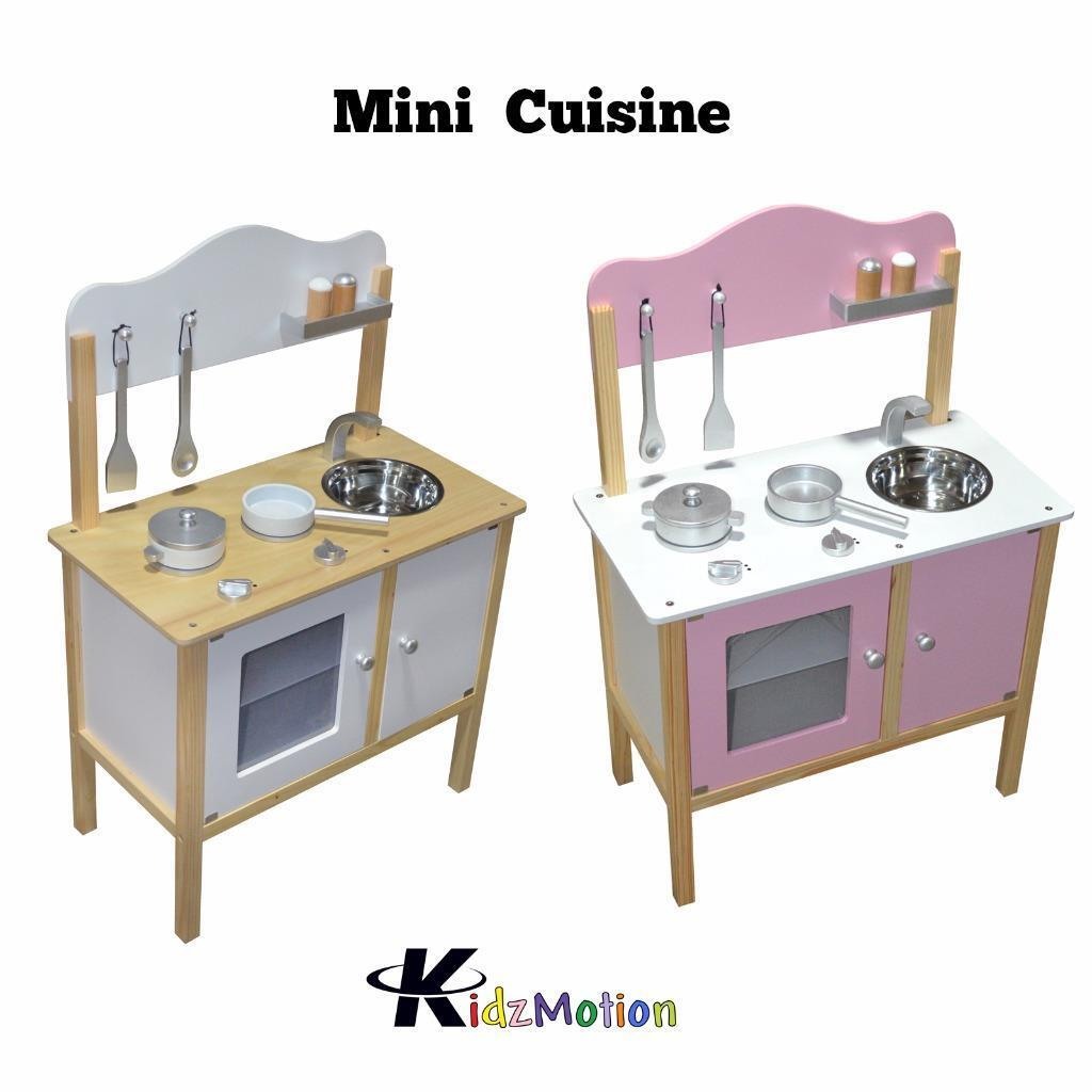 Kidzmotion La Cuisine Junior Wooden Pretend Play Kitchen Pink