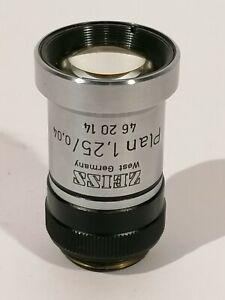 Zeiss-Plan-1-25x-160-Nr-462014-Microscope-Objective-Mikroskop-Objektiv