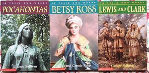 Lot-of-3-In-Their-Own-Words-Lewis-Clark-Pocahontas-Betsy-Ross-VGC-PB