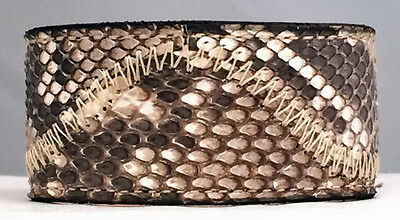 GENUINE PYTHON SNAKESKIN HANDMADE LEATHER BELT BLACK COLOR LENGTH 54 INCHES