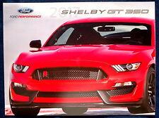 Prospekt brochure 2017 Ford Mustang Shelby GT350 (USA)
