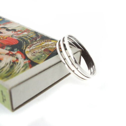 sterling silver 925 3 band ring sizes L,M,N,O,Q,R,S