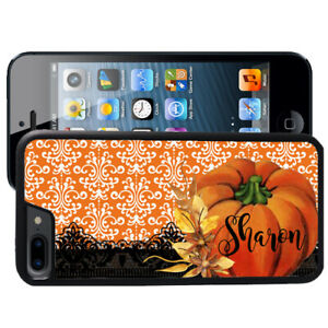 Personalized-Rubber-Case-for-iPhone-Xr-Xs-X-Max-8-7-6-Plus-Pumpkin-Fall-Lace