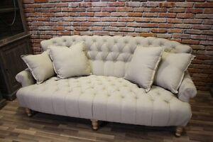 xxl sofa ant neu chesterfield stil extra tief landhaus. Black Bedroom Furniture Sets. Home Design Ideas