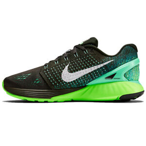 RARE Nike Wmns Lunar Glide 7 Running Baskets Gris Orange Noir 747356 300 UK8