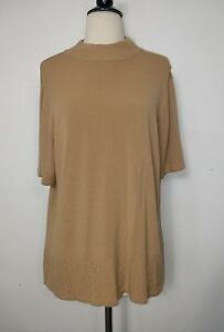 a4adce273c Image is loading Sag-Harbor-Sweater-Lite-Weight-Short-Sleeve-Tan-