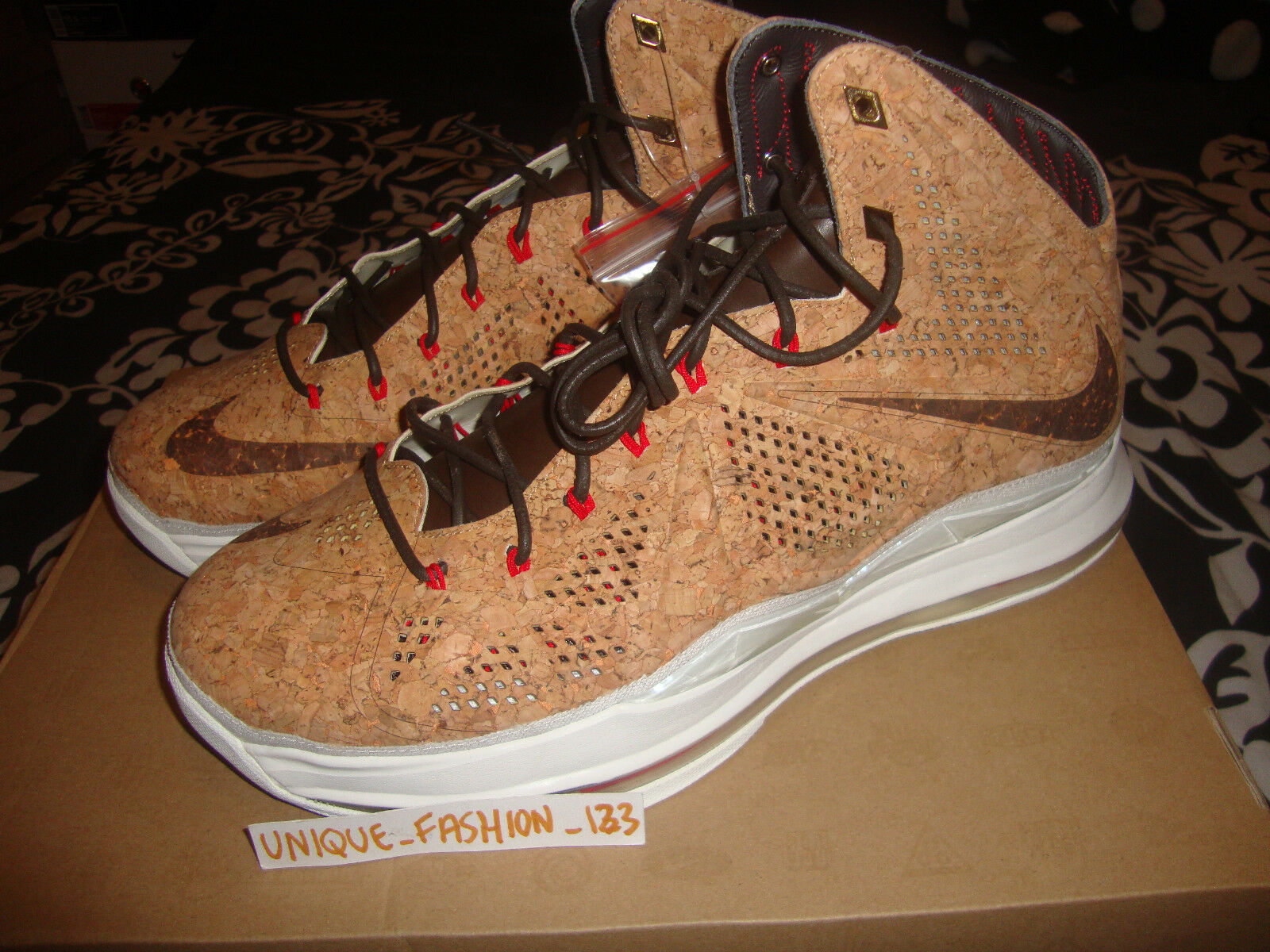 2018 NIKE LEBRON 10 X EXT CHAMPAGNE CORK QS BROWN US 8.57.5 42 CHAMPIONSHIP BROWN QS 020fde
