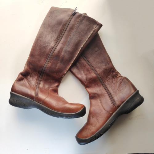 Keen Bern Baby Brown Leather Tall Boots 5477-OAKK