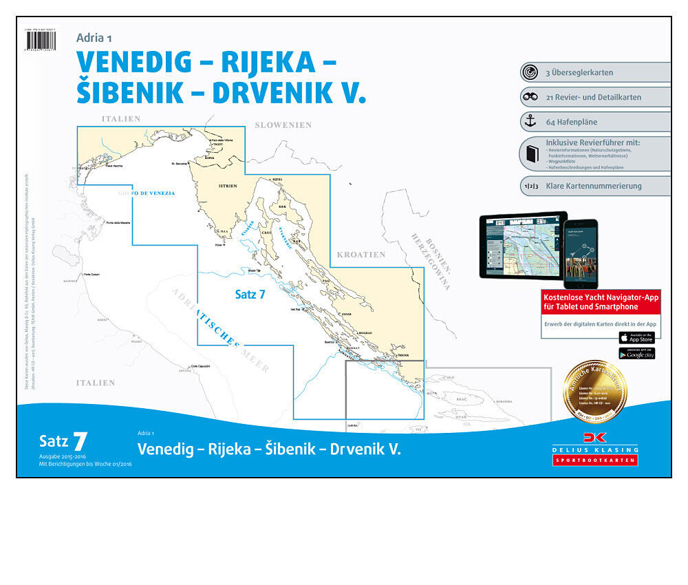 DK Satz 7, Mittelmeer 1, - Adria 1, Mittelmeer Kroatien Venedig Rijeka 2017 / 2018   PC CD App a5ed9e