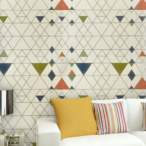 Triangle Colorful Self Adhesive Wallpaper Contact Paper Peel And Stick Geometric 647444490587 Ebay